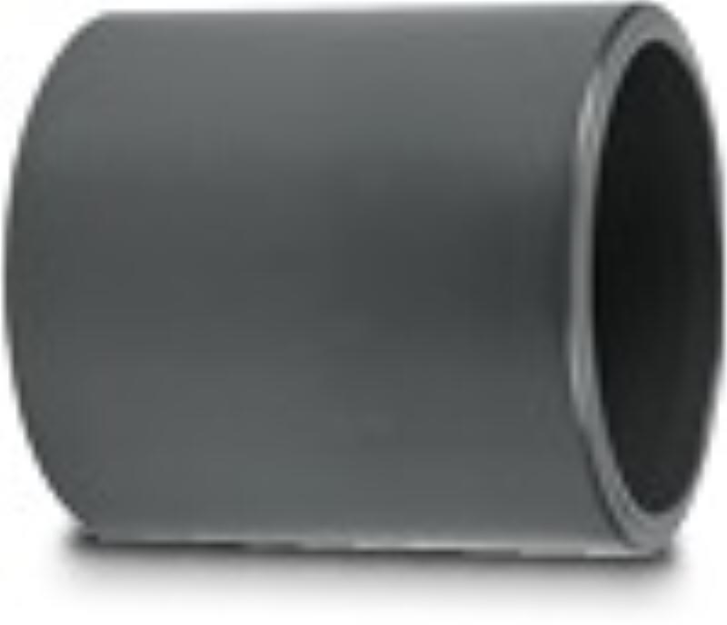4 Inch Straight connector pressure (grey)